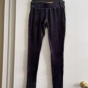 Minnie Rose Gray Velvet Pants/Leggings